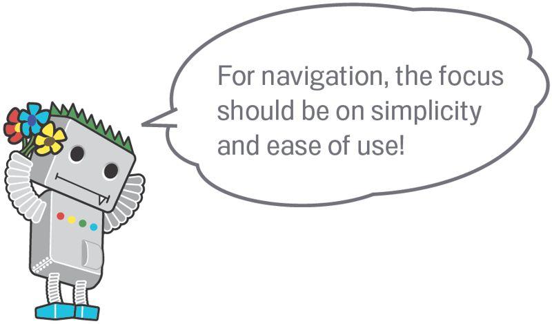 Google SEO Navigation
