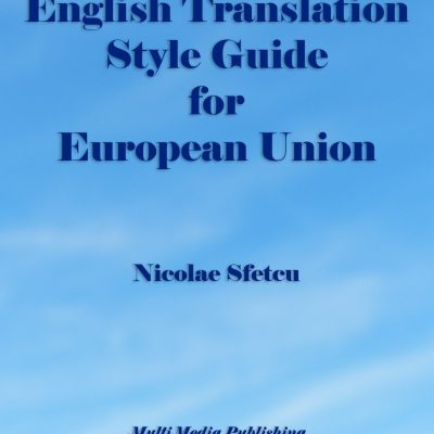 English Translation Style Guide for European Union