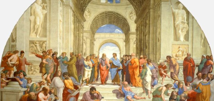 Famous representation of the different schools of antiquity