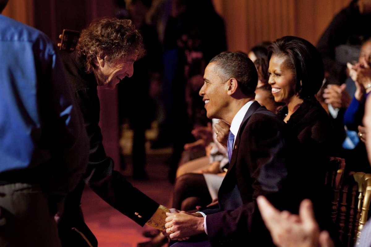 Bob Dylan și Barack Obama la Casa Albă