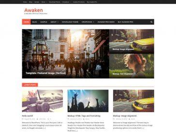 Teme WordPress gratuite: Awaken