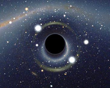 Gaură neagră în fața Marelui Nor Magellanic