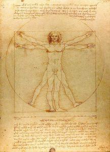 Leonardo da Vinci, Omul Vitruvian