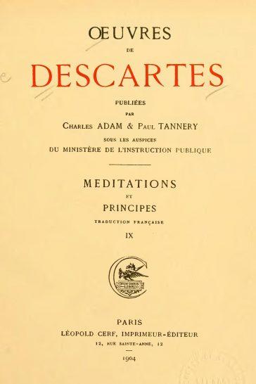 Descartes, Meditations on First Philosophy