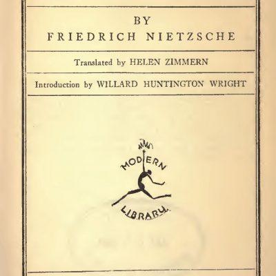 Nietzsche, Dincolo de bine și rău