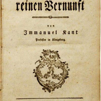 Kant, Critica rațiunii pure