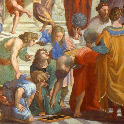 Școala din Atena, de Raphael - Euclid