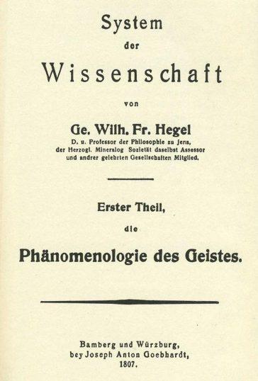 Hegel: Fenomenologia spiritului
