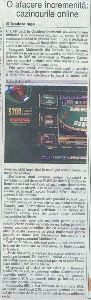 Ziarul Financiar: O afacere încremenită: cazinourile online