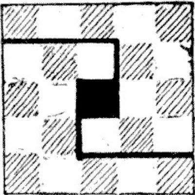 Tabla de șah cu un număr impar de pătrate