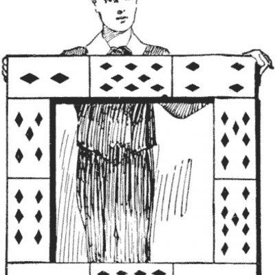 Cadrul din cărți de joc