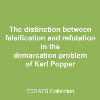 The distinction between falsification and refutation in the demarcation problem of Karl Popper