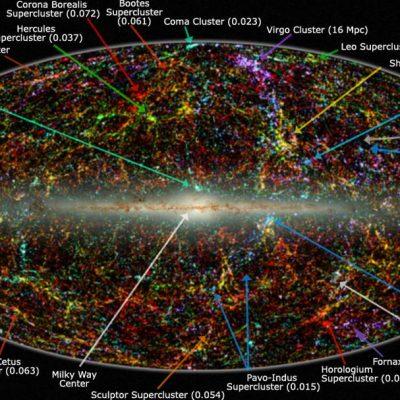 Vedere panoramică a întregului cer aproape de infraroșu dezvăluie distribuția galaxiilor dincolo de Calea Lactee