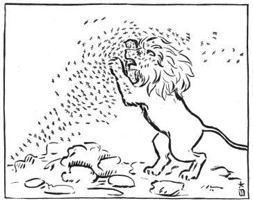 Le lion et les moustiques