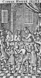 Cafenea londoneză din secolul XVII