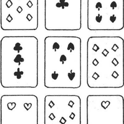 Pătrate magice cu cărți de joc