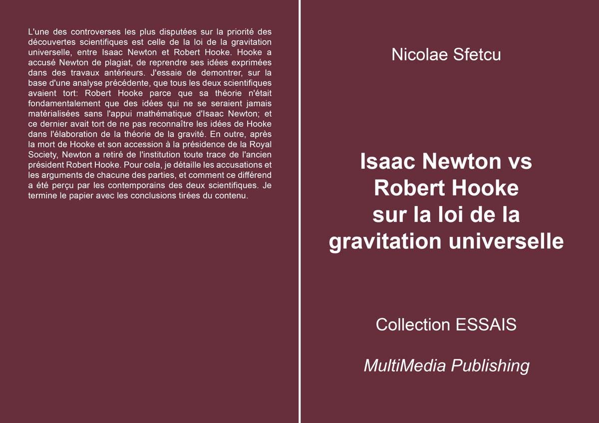 Isaac Newton vs Robert Hooke sur la loi de la gravitation universelle
