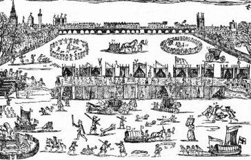 Marele foc pe Tamisa înghețată—1683