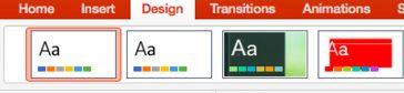 Adăugarea unui design în PowerPoint