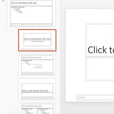 PowerPoint - Diapozitive master