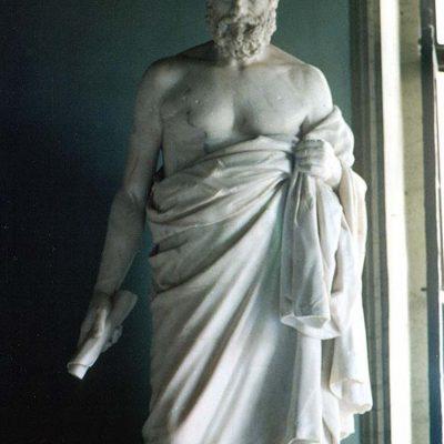 (Statuia unui filozof cinic necunoscut din Muzeul Capitoliului din Roma