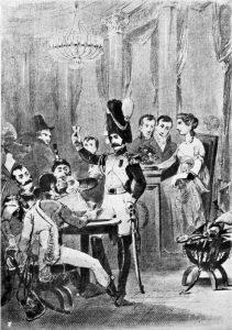 Cafeneaua Mii de coloane în 1811, Paris - Gravură de Bosredon