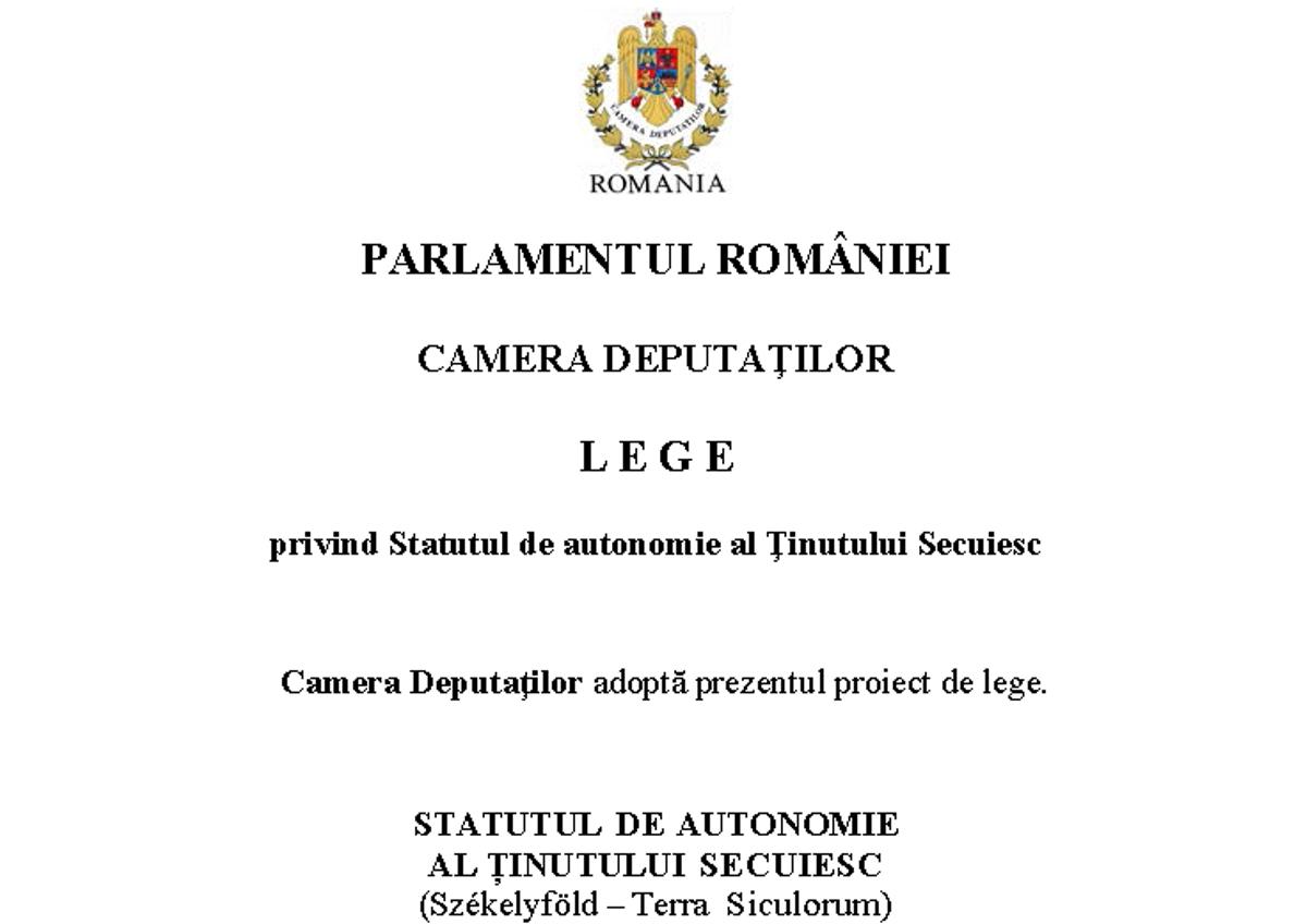 Legea privind autonomia Ținutului Secuiesc