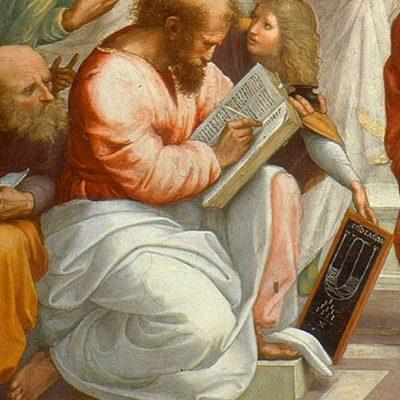 Pitagora, în Școala din Atena de Rafael