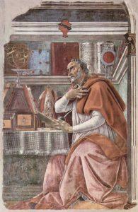 Augustin de Hippo, by Sandro Boticelli
