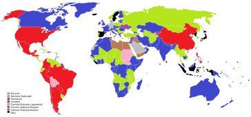 Terminologia pentru fiecare legislatură națională a fiecărei țări