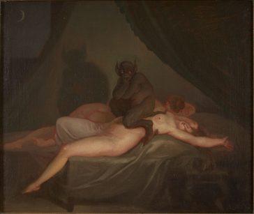 """""""Coşmar"""", 1800, de Nikolaj Abraham Abildgaard"""