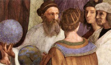 Zarathoustra tel que représenté dans l'École d'Athènes de Raphaël aux côtés de Raphaël