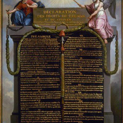 Declarația privind drepturile omului și ale cetățeanului aprobată de Adunarea Națională a Franței, 26 august 1789