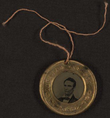 Butonul campaniei prezidențiale pentru Abraham Lincoln, 1860