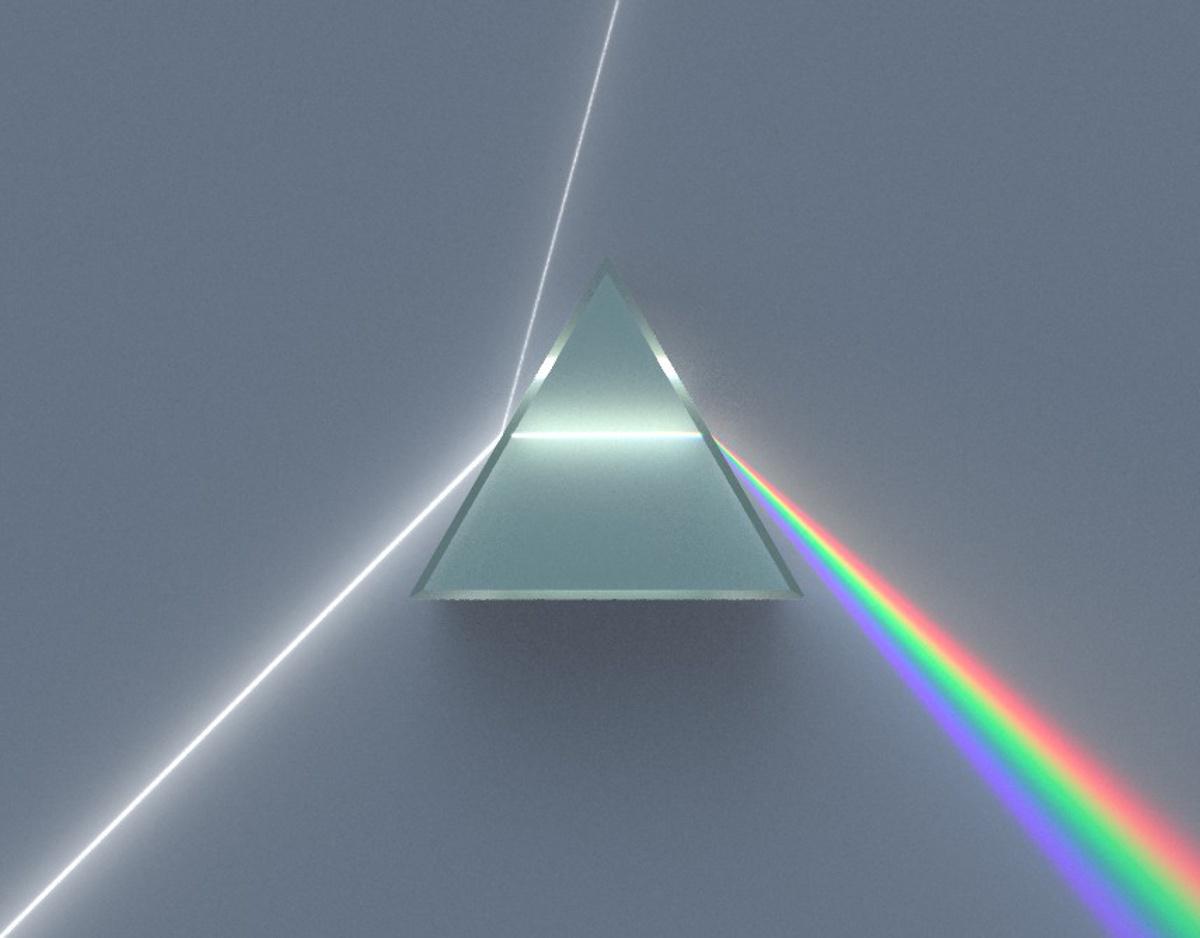 Dispersia luminii prin prismă (Isaac Newton)