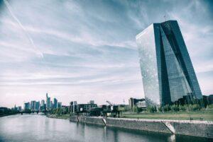Clădirea Băncii Centrale Europene din Frankfurt.