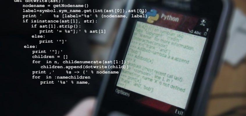 Mobile phone - Python programming language