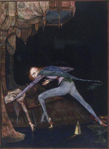 Ilustrație de Harry Clarke, 1919, la The Tell-Tale Heart, de Edgar Allan Poe