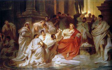 Karl Theodor von Piloty, Murder of Caesar, 1865