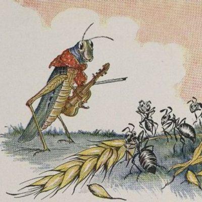 Greierele și furnica