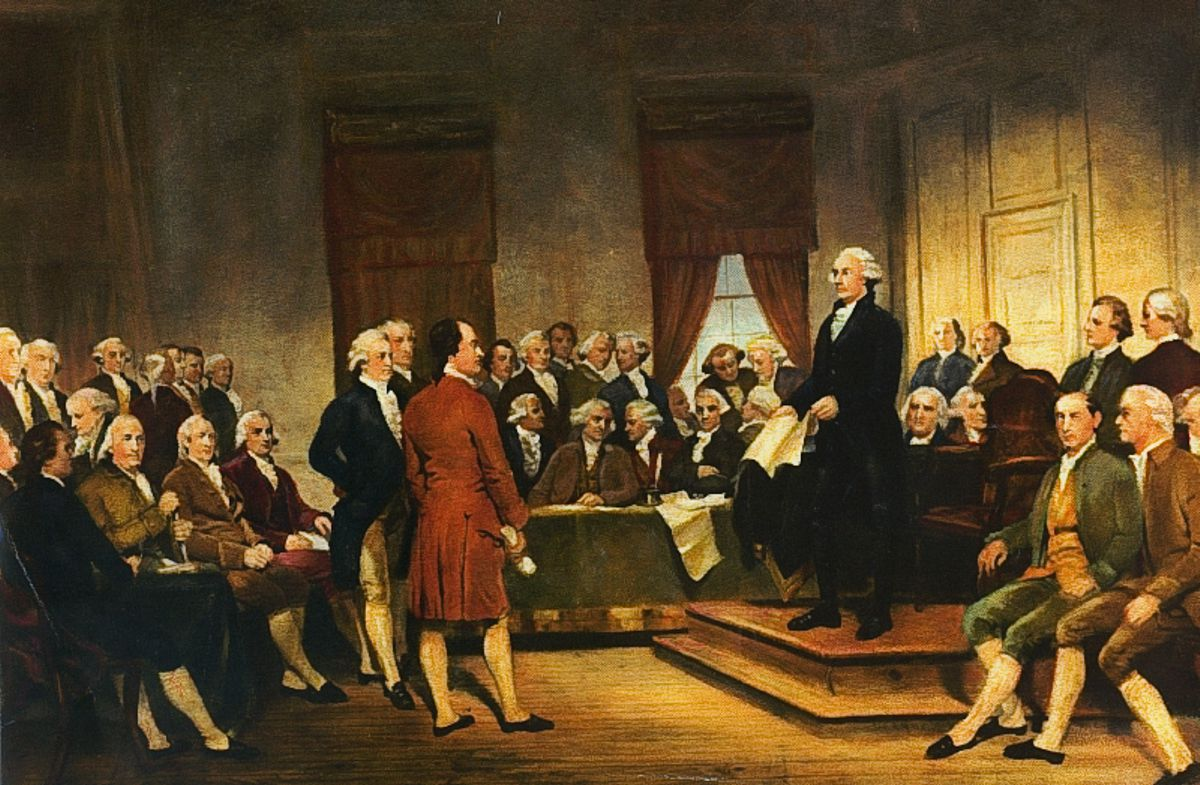 Washington at Constitutional Convention of 1787, by Junius Brutus Stearns