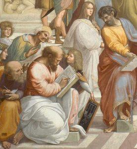 Raphael's fresco The School of Athens: Pythagoras