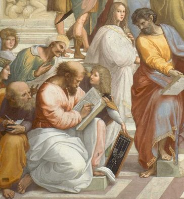 Raphael's fresco The School of Athens: Pythagoras