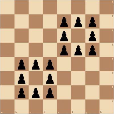 Probleme de șah: Calul și cei 16 pioni