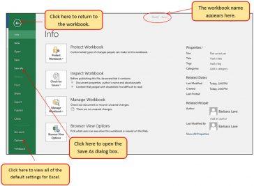 Excel File Tab