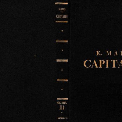 Capitalul - Critica economiei politice, de Karl Marx, Vol. III