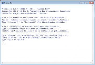 Limbajul de programare R - Terminal R