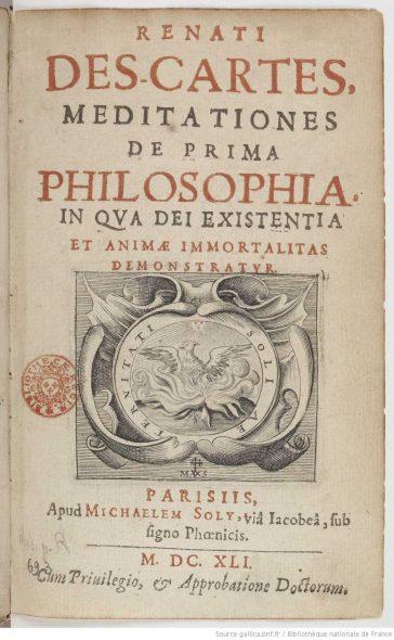 Meditații metafizice, de René Descartes