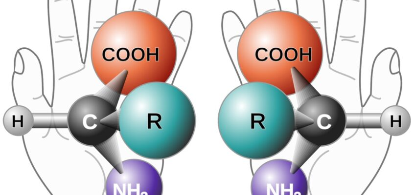 Doi enantiomeri ai unui alfa aminoacid generic